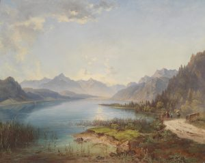HISTORISCHE ANSICHT MILLSTÄTTER SEE Jakob Canciani 1891